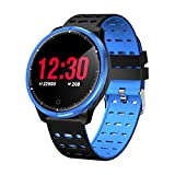 Smartwatch for Phones, TechCode Smart Bracelet Color LCD Screen Smart Band Heart Rate Blood Pressure Monitor Smart Bracelet Wristband Fitness Tracker Watch for Sports Running Walking Gym or More(Blue)