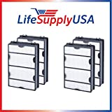 4-Pack fit to Holmes, HEPA Air Filter, Compare To Filter Part # 16216, HRC1, Holmes Part # HAPF600, HAPF600D, HAPF600D-U2 - Designed & Engineered By Vacuum Savings