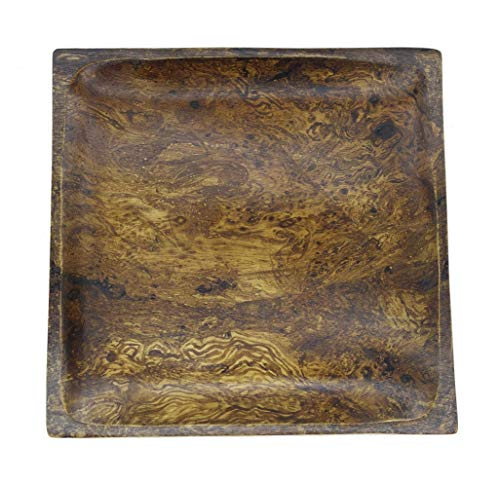 Mango Wood Plate Handmade Sustainable Wooden Square Plates Dinner Plates Canape Cheese Plates (8