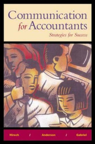 Communication for Accountants: Strategies for Success by McGraw-Hill/Irwin