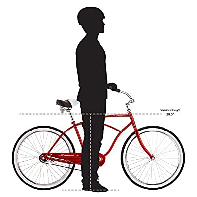 "Schwinn Men's Classic 1 26"" Wheel Cruiser Bicycle, Red, 14""/Medium"