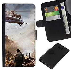 Planetar® Modelo colorido cuero carpeta tirón caso cubierta piel Holster Funda protección Para Samsung ALPHA / SM-G850 / S801 ( Military action () )