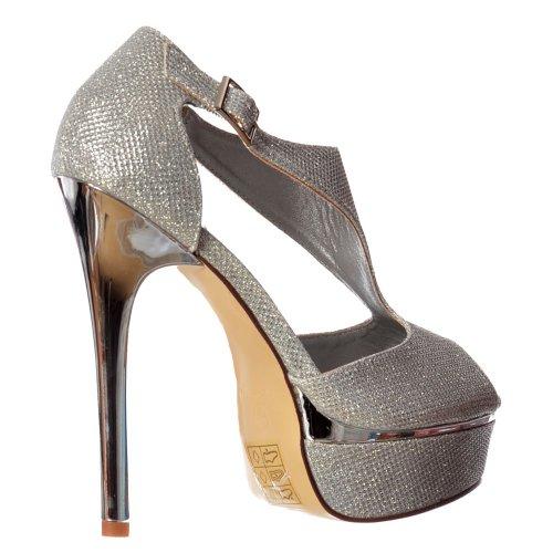 Talon Onlineshoe Escarpins Femmes Peep Argent Miroitement Chaussures Brillant Or Ou De Toe Talon De Argent Parti Haut 7qRdTw7n