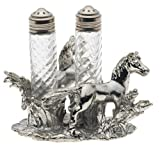 Arthur Court Horse Salt-and-Pepper Set in Stand