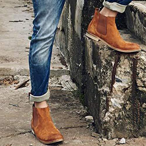 Yellow Boots Desert Vintage Stivali Pelle Pelle Moda da Brogue Cowboy Oxblood Martin Classico Stivaletti Uomo Chelsea in Nero Stivali gHdxwAUUq
