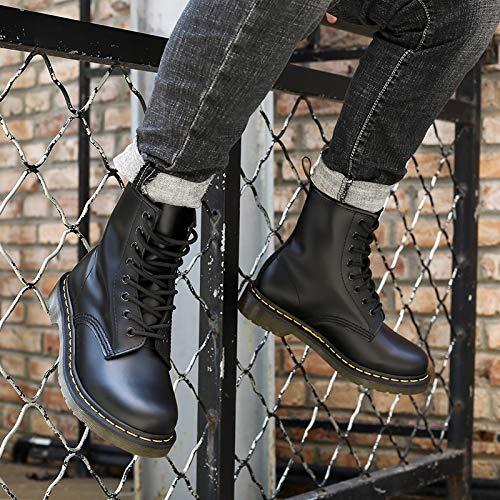 Martin Et Les Chaussures Bottes Hommes pour Les Locomotives Les 39 des Femmes Bottes Femmes Classiques des 3 pour HBDLH Bottes De black Gangs Cm XdtHqnw