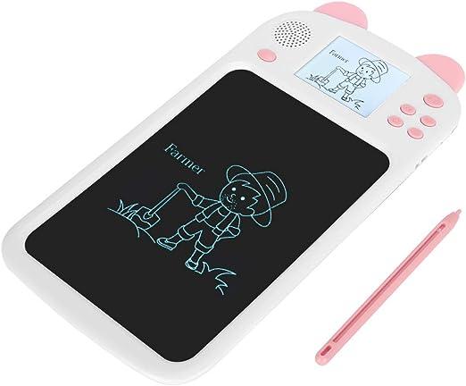 電子描画黒板、細かい研磨ライトスクリーンなし疲労なし目へのダメージなしブルーライトライティングタブレットなし、子供向け(Pink)