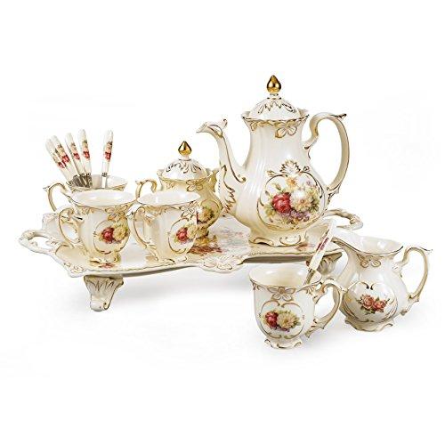 Porcelain 12 Piece Tea Set - 1