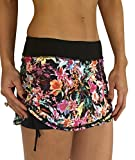 Alii Lifestyle Women's Out The Door Run Skort, Kelly/Spring Fling, Small