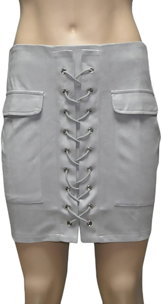 Faldas Mujer Moda Bandage Gamuza Slim Faldas Cortas Elegantes ...