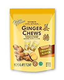 Prince Of Peace - 100% Natural Ginger Candy Chews (Pack 2 x 4.4 oz)