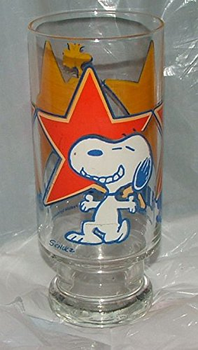 - Snoopy 1965 Drinkware Glass. Super Star.
