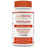 Immune: Hyperbiotics Daily Immune & Wellness Formula—Probiotics With Bioavailable Vitamin C, Zinc, Echinacea, & EpiCor (Saccharomyces Cerevisiae)—Time Release Delivery—30 Day Supply