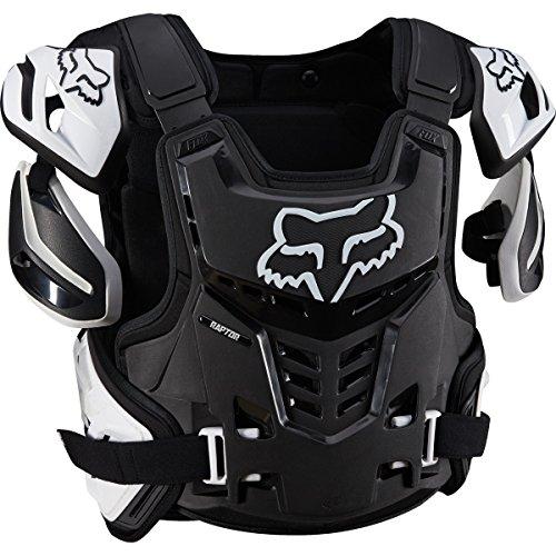 - Fox Racing Raptor Vest Mens Roost Deflector Body Armor - Black/White  Large/X-Large