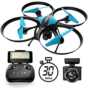 U49W Drone with Camera Live Video - Altitude Hold Headless Mode 15-Min. Flight Wi-Fi FPV Quadcopter by UDI