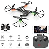 Physport Foldable Drones with HD Camera Remote Control Quadcopter Live Video Wifi FPV APP Optical Flow Positioning Mode RC Toys