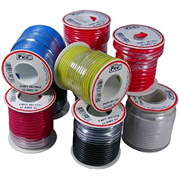 16 gauge wire, 25 gauge wire, small gauge shielded audio wire, 14 gauge wire, aluminum floral wire, 20 gauge wire, on 8 12 guage wire harness