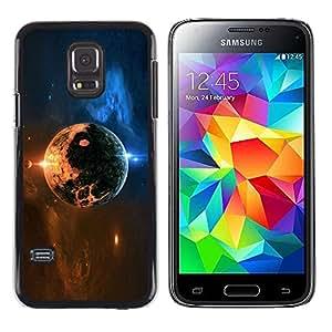 Space Planet - Metal de aluminio y de plástico duro Caja del teléfono - Negro - Samsung Galaxy S5 Mini (Not S5), SM-G800