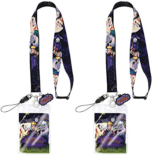 Mickey's Not So Scary Halloween (Disney Villains Lanyards with ID Card and Pin Holder for Kids | Perfect for Disney World Mickeys Not So Scary Halloween Party and Disney Cruise, Disneyland Accessories, Keychain | Pack)