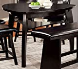 triangular dining table Furniture of America CM3433PT Hurley Counter Height Dining Tables