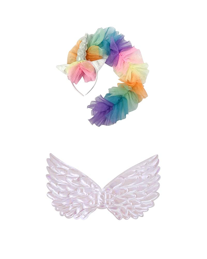 Seasons Direct Halloween Girls Rainbow Unicorn Costume