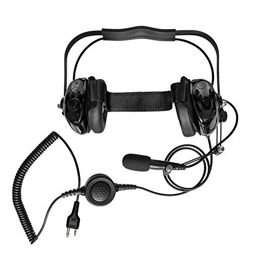 (Maxtop AHDH0032-BK-L2 Two Way Radio Noise Cancelling Headset for MIDLAND GXT800 GXT750 GXT757 GXT800 GXT1000 GXT1050)
