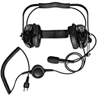 Maxtop AHDH0032-BK-L2 Two Way Radio Noise Cancelling Headset for MIDLAND GXT800 GXT750 GXT757 GXT800 GXT1000 GXT1050