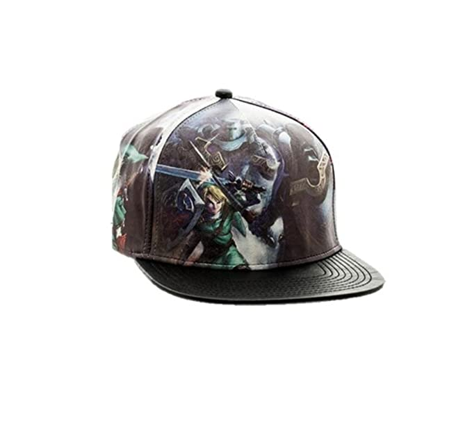 Image Unavailable. Image not available for. Colour  Nintendo The Legend of  Zelda Allover PU Leather Snapback Baseball Hat Cap a19b481e7587