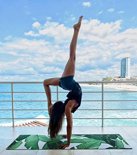 Yoga Zeal Yoga Mats Luxuriously Soft, Thick, Non-Slip, Hot Yoga Mat. Eco Printed. Designed to Grip Better with a Sweaty Yoga Practice!
