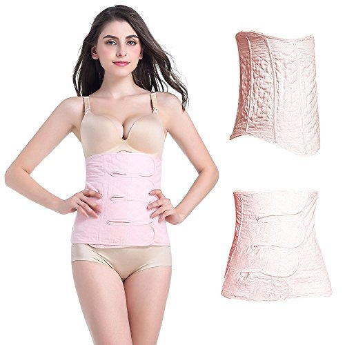 BERON Waist Trimmer Belt Postpartum Postnatal Recovery Support Girdle Belt Tummy Fat Burning Lost Weight Body Shaper Wrapper(XL)