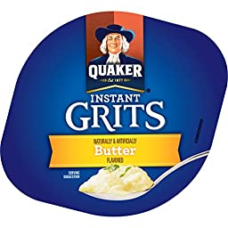 Quaker Instant Grits, Butter Flavor, Breakfast Cereal (Pack of 12)