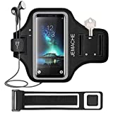 Galaxy S10+/S9+/S8+ Armband, JEMACHE Gym Run Workout Arm Band Case for Samsung Galaxy S10 Plus/S9 Plus/S8 Plus with Card Holder Pouch (Black)
