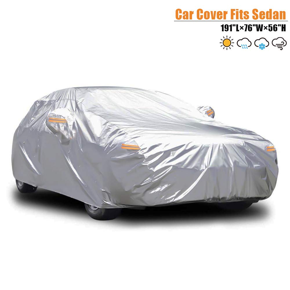 //Windproof//Dustproof//Scratch Resistant Outdoor UV Protection Full Car Covers SUV car Carbaba Car Cover Sedan Cover Waterproof