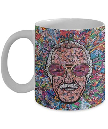 Excelsior Stan Lee Is Super Hero Father Of Heroes Mug 15 oz. Entertainment's Amazing Stan Lee Mug Perfect Gift For Men Women Youth Kid or Lovers Marvel, Superheroes For Birthday, Christmas