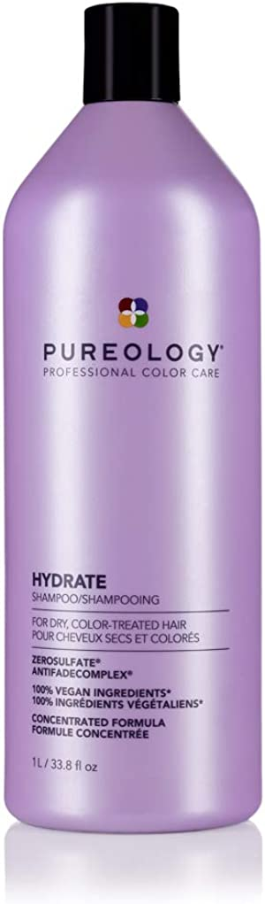 Pureology Hydrate Moisturizing Shampoo   for Medium to Thick Dry, Color Treated Hair   Sulfate-Free   Vegan
