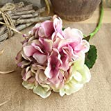 scaling Fake Flowers, Vintage Artificial Silk Fake Flowers Peony Floral Wedding Bouquet Bridal Hydrangea Decor Wedding Home Decoration (E)