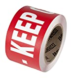 INCOM Manufacturing: Worded Floor Marking Tape, 3'' x 54',''FIRE AISLE-KEEP CLEAR''