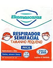 Kit 10 - Máscaras Infantil PFF2 N95 Tamanho P - Branca - Ekomascaras - Proteção Respiratória