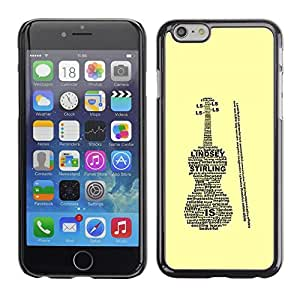 LECELL -- Funda protectora / Cubierta / Piel For Apple iPhone 6 -- Lindsey Sterling Violin Case --