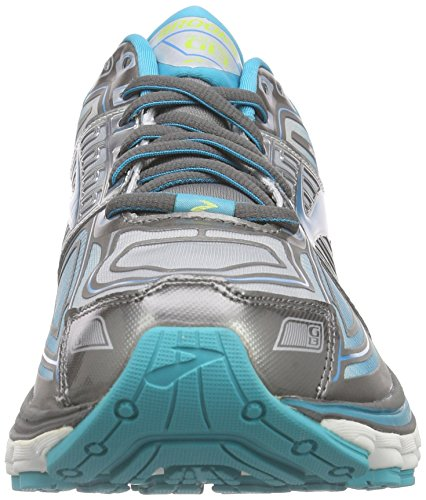 Brooks Glycerin 13 - Zapatillas de Entrenamiento Mujer Gris - Grau (MetallicCharcoal/BlueBird/SharpGreen)