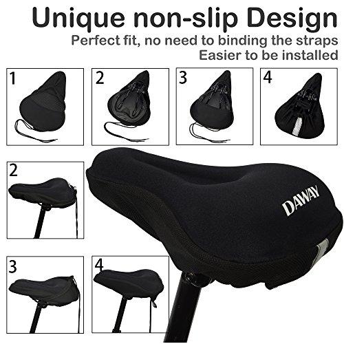 Daway Comfortable Bike Seat Cover Extra Soft Gel Amp Foam