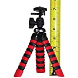 Flexible Tripod - Mini - Lightweight - Compact - Bendable - Portable. For Travel, Picnic, Sports and Events. Small Size Fits in Pockets, Handbags and Purses. Grips Tight.