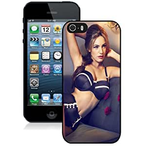 Beautiful Custom Designed Cover Case For iPhone 5s With Kelly Brook Black Lingerie Phone Case hjbrhga1544