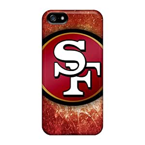 New San Francisco 49ers Logo Tpu Cases Covers, Anti-scratch ChrismaWhilten Phone Cases For Iphone 5/5s