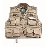 Master Sportsman Youth Mesh Fishing Vest (Khaki) Medium, Outdoor Stuffs