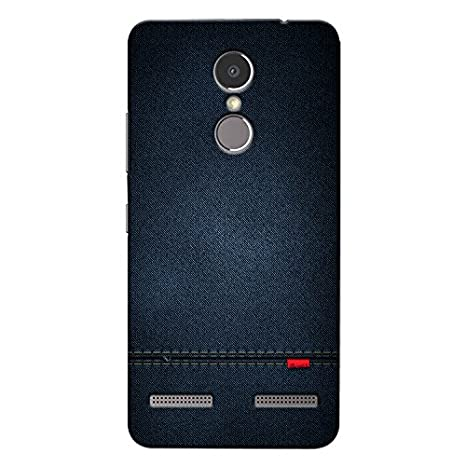 check out 6e9df 07527 CrazyInk Premium 3D Back Cover for Lenovo K6 Power - Blue Leather Texture  CILK6PB059