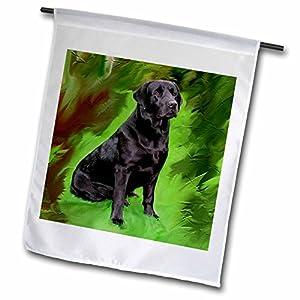 3dRose fl_3892_1 Black Labrador Retriever, Garden Flag, 12 by 18-Inch