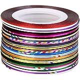 Vanz 30 Mix Color Rolls Striping Tape Nail Art Decoration