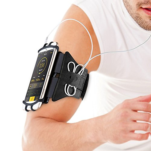 VUP Running Armband for iPhone X/ 8 Plus/ 8/ 7 Plus/ 7/ 6S Plus/ 6S/ 6/ 5S/ SE,180 Rotatable Sports Workout Cell Phone Holder for SAMSUNG Galaxy S8/ S7 Edge/ S6, Google Pixel/ Nexus 6P, LG and More