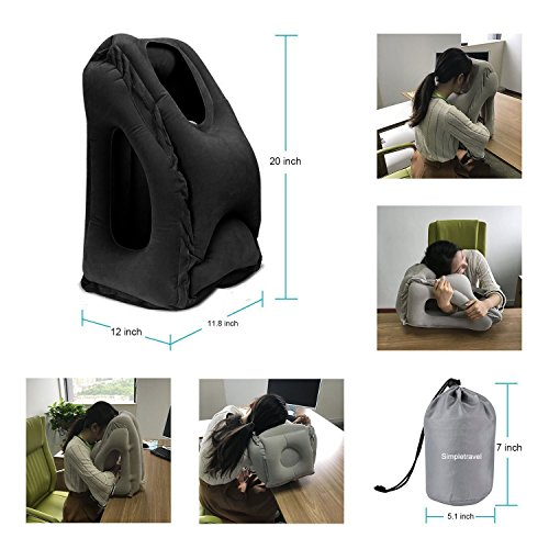 BONAIR OUTFITTERS B077Z8M8RK Inflatable Travel Pillow Airplane pillow